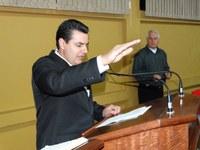 """""""É um motivo de alegria, mas também de grande responsabilidade"""", diz Laudecir Maciel ao assumir vaga na Câmara de Canoinhas"""