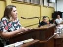 """""""Não é uma conquista pessoal, mas sim de todas as mulheres"""", diz Cris Arrabar ao assumir a presidência"""