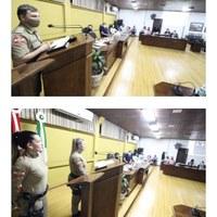 Agosto Lilás, Polícia Militar participa de Sessão na Câmara de Vereadores e fala sobre o assunto