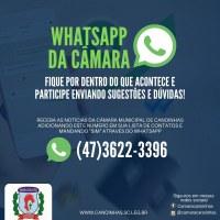 Câmara de Vereadores lança Canal no WhatsApp