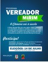 Câmara Mirim leva o legislativo às escolas de ensino fundamental