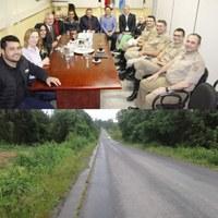 Comandante da Polícia Militar Rodoviária se reúne com Vereadores para tratar das futuras instalações do novo Posto Policial na SC 477