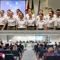 Coronel Mario participa de Formatura do Curso de Formação dos Agentes Temporários do 3º BPM