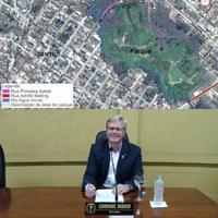 Coronel Mário solicita informações sobre o Parque da Cidade.