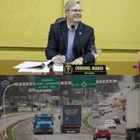 Vereador Coronel Mário, solicita melhoria da sinalização, iluminação e manutenção no trecho urbano da BR 280
