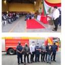 Gil Baiano e vereadores participam de entrega de viatura e recursos no Bombeiro de Canoinhas