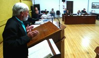 Membro do SOS Rios faz uso da Tribuna na Câmara de Vereadores de Canoinhas