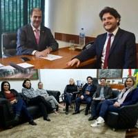Paulinho Basílio, Telma Bley e Camila Lima, solicitam emendas para Deputado Federal Carlos Chiodini