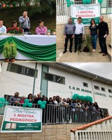 Presidente da Câmara de Vereadores Célio Galeski participa da 1ª Mostra Pedagógica na EBM Maria Lovatel Pires