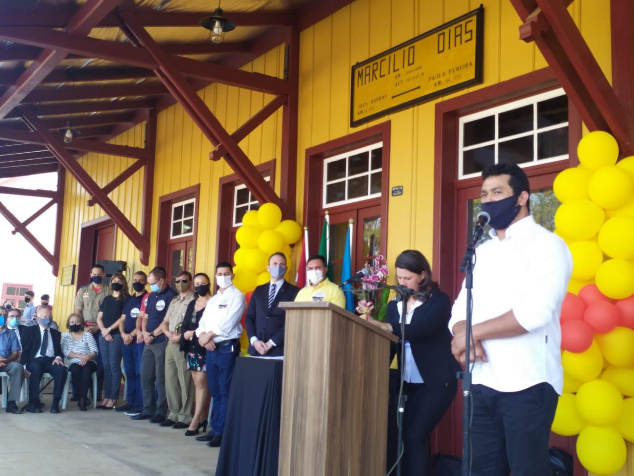Presidente da Câmara Gil Baiano e Vereadores participam de inauguração do Complexo Turístico e Cultural em Marcílio Dias