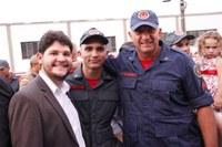 Presidente e vereadores participam de formatura dos Bombeiros