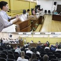 Sessão da Câmara Mirim recebeu visita de alunos do Senac e do acadêmico de Direito Iury de Alexandrina