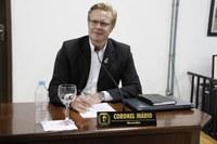 """Vereador Coronel Mário apresenta requerimento sobre o programa """"Unindo Forças"""""""