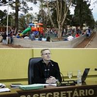 Vereador Coronel Mário solicita melhorias com a Segurança do Parque Infantil da Praça Lauro Muller