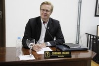 Vereador Coronel Mário solicita reforma em edificação abandonada, melhorias no sistema de iluminação e redutores de velocidade