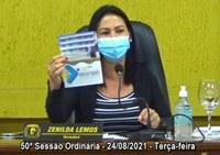 Vereadora Zenilda Lemos destaca Campanha Agosto Laranja conscientiza a prevenção às deficiências