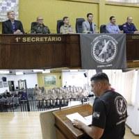 Vereadores Mário e Gil Baiano participam da aula inaugural do Curso de Táticas Policiais