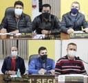 Vereadores Osmar, Willian, Gil Baiano, Everton, Maurício e Wilmar buscam informações como estão as licenças ambientais para extração de cascalho, pedra brita no município