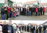 Vereadores participam da entrega de 21 casas habitacionais em Canoinhas