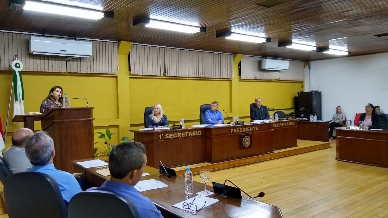Zenici Dreher Secretária Municipal de Saúde usou da Tribuna na Câmara de Vereadores para tranquilizar população